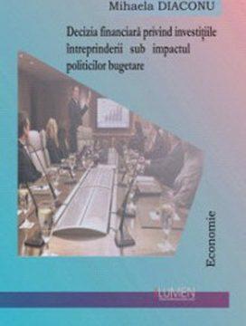 Publica cartea ta la Editura Stiintifica Lumen DIACONU Deciziile financiare