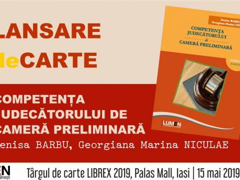 Publica cartea ta la Editura Stiintifica Lumen Lansare BARBU FB event