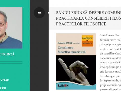 Publica cartea ta la Editura Stiintifica Lumen sandu frunza recenzie antonio sandu