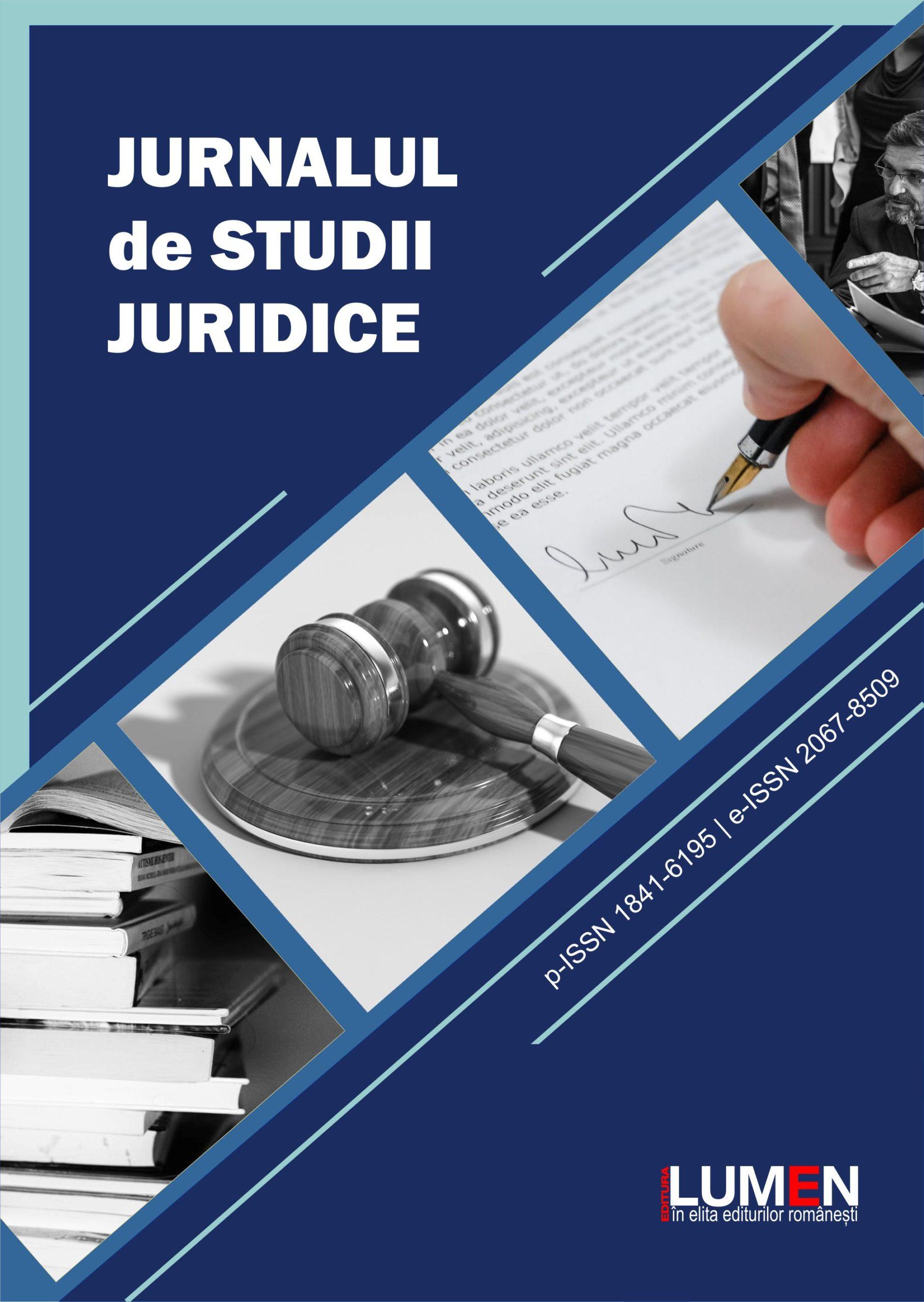 Publica cartea ta la Editura Stiintifica Lumen COVER Jurnalul de Studii Juridice scaled