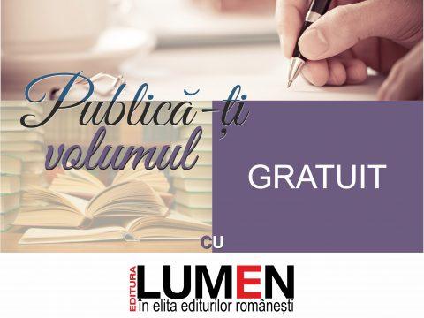 Publica cartea ta la Editura Stiintifica Lumen Publica gratuit cu LUMEN 2017