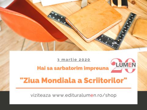 Publica cartea ta la Editura Stiintifica Lumen ziua scriitorilor 2020 1