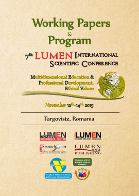Publish your work with LUMEN Cover Working papersProgram MEPDEV 2015 ANCSI