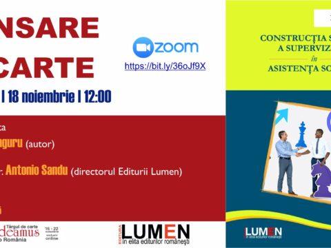 Publica cartea ta la Editura Stiintifica Lumen Gaudeamus Constructia sociala UNGURU