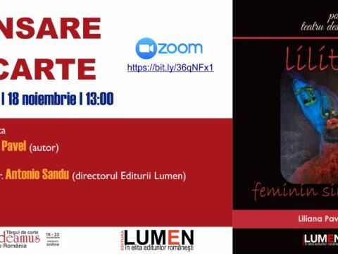 Publica cartea ta la Editura Stiintifica Lumen Gaudeamus Lilith feminin singular PAVEL