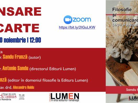 Publica cartea ta la Editura Stiintifica Lumen Gaudeamus Sandu Frunza 1