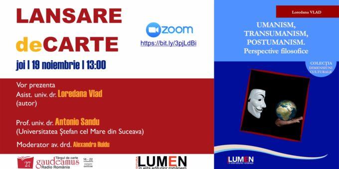 Publica cartea ta la Editura Stiintifica Lumen Gaudeamus Umanism transumanism VLAD
