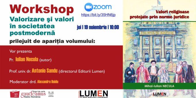Publica cartea ta la Editura Stiintifica Lumen Gaudeamus Workshop NECULA