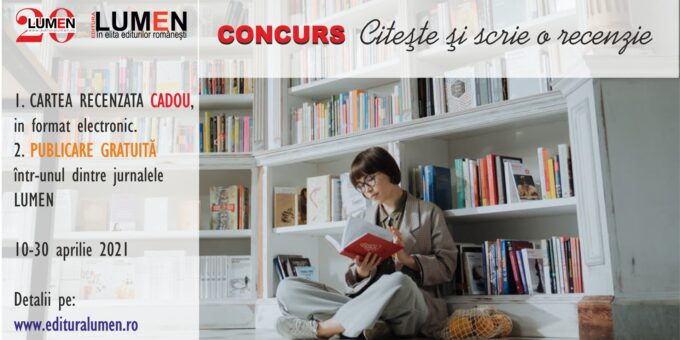 Publica cartea ta la Editura Stiintifica Lumen Concurs LUMEN recenzii