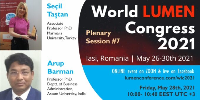Publica cartea ta la Editura Stiintifica Lumen Plenary session 7