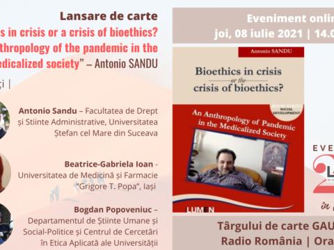Publica cartea ta la Editura Stiintifica Lumen lansare bioethics Gaudeamus2021 3