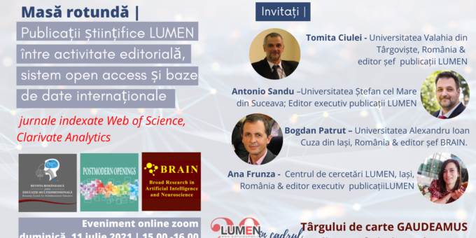 Publica cartea ta la Editura Stiintifica Lumen wos journals Gaudeamus2021 oradea